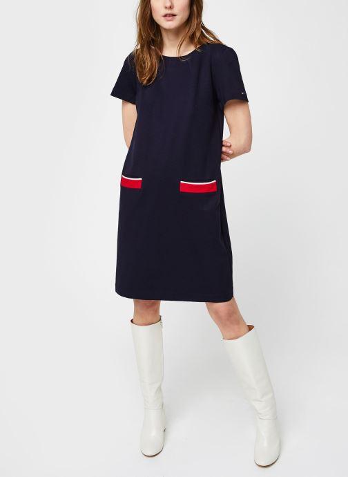 Vêtements Tommy Hilfiger Shift Punto Dress Ss Bleu vue bas / vue portée sac
