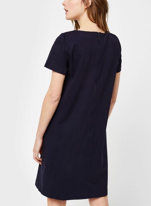 Vêtements Tommy Hilfiger Shift Punto Dress Ss Bleu vue portées chaussures