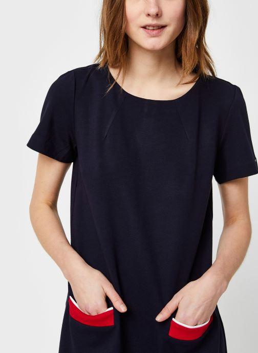 Vêtements Tommy Hilfiger Shift Punto Dress Ss Bleu vue face