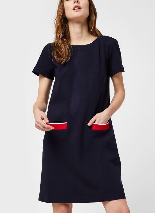 Vêtements Tommy Hilfiger Shift Punto Dress Ss Bleu vue détail/paire