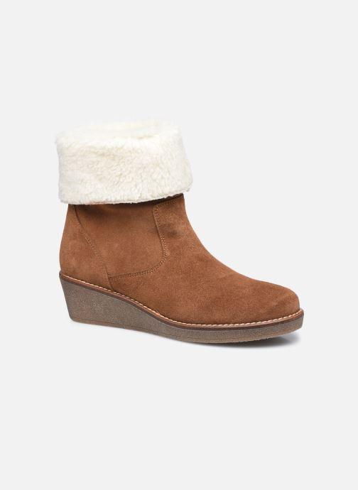 Bottines et boots Georgia Rose Soft Armelle Marron vue détail/paire