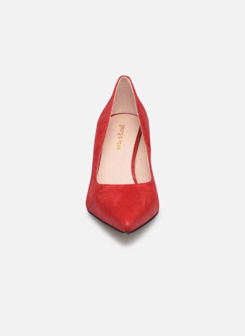 Escarpins Georgia Rose Anguilla Rouge vue portées chaussures