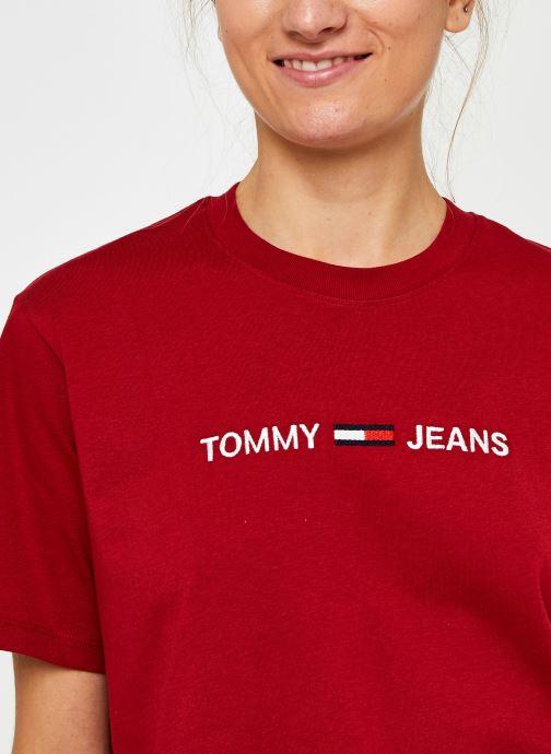 Vêtements Tommy Jeans Tjw Modern Linear Logo Tee Rouge vue face