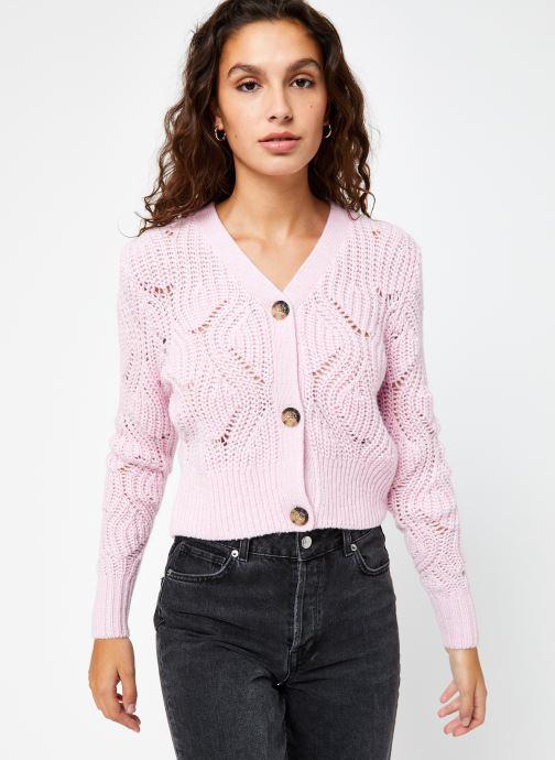 Vêtements Tommy Jeans TJW Pointelle Cardigan Rose vue droite