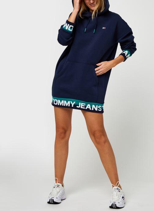 Vêtements Tommy Jeans TJW Branded Hem  Sweat Dress Bleu vue bas / vue portée sac