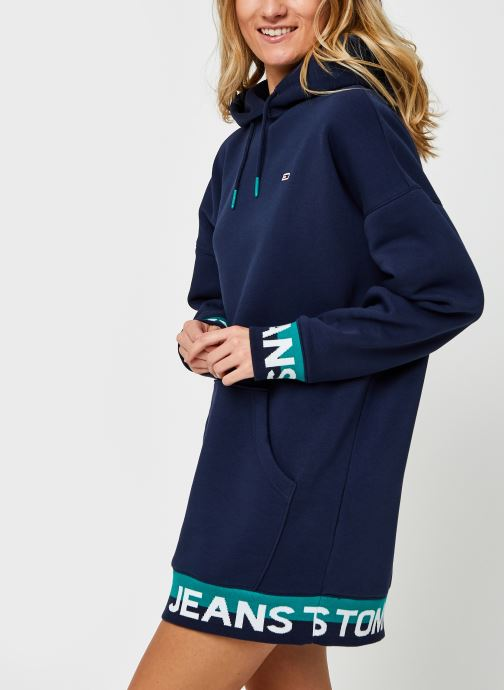 Vêtements Tommy Jeans TJW Branded Hem  Sweat Dress Bleu vue droite