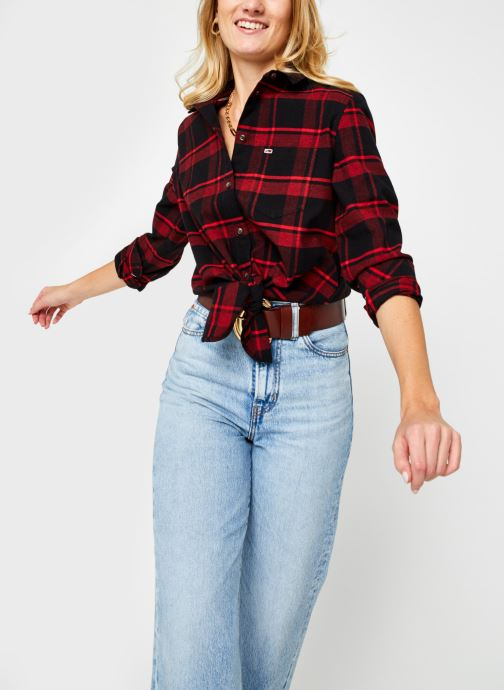 Kleding Accessoires TJW Check Front Knot Shirt