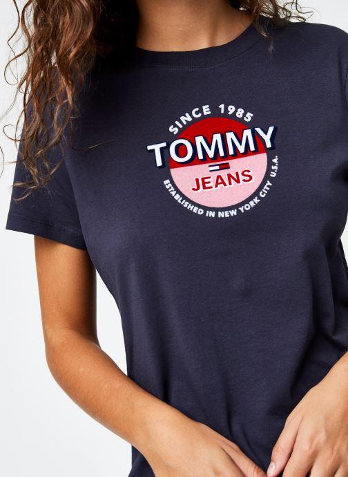 Vêtements Tommy Jeans TJW Circle Logo Tee Bleu vue face