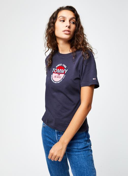 Vêtements Tommy Jeans TJW Circle Logo Tee Bleu vue droite