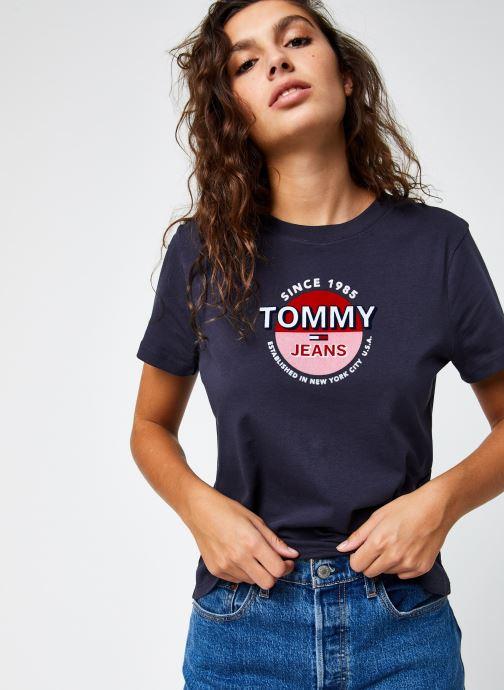 Vêtements Tommy Jeans TJW Circle Logo Tee Bleu vue détail/paire