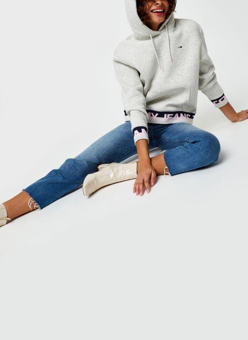 Vêtements Tommy Jeans TJW Branded Hem Hoodie Gris vue bas / vue portée sac