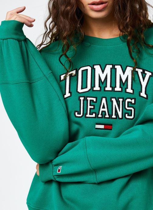 Vêtements Tommy Jeans TJW Collegiate  Logo Crew Vert vue face