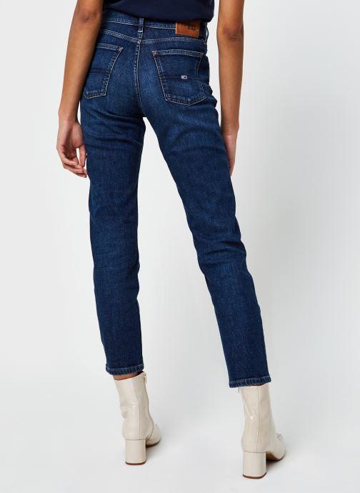 Vêtements Tommy Jeans Izzy Hr Slim Ankle Bleu vue portées chaussures