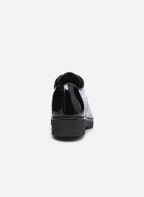 Zapatos con cordones Georgia Rose Azylis Negro vista lateral derecha