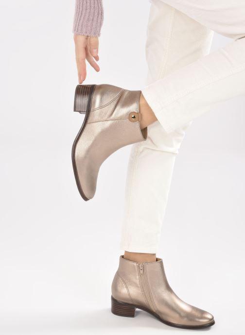 Bottines et boots Georgia Rose Soft Wandy Or et bronze vue bas / vue portée sac