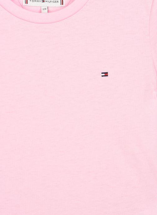 Vêtements Tommy Hilfiger Essential Knit Tee S/S Rose vue portées chaussures