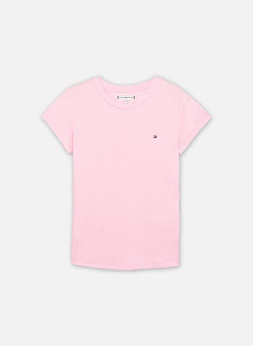 Vêtements Tommy Hilfiger Essential Knit Tee S/S Rose vue détail/paire