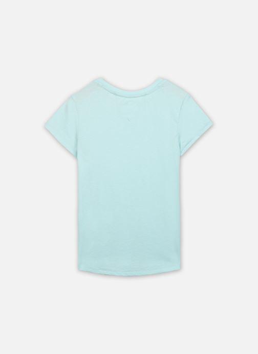 Vêtements Tommy Hilfiger Essential Knit Tee S/S Bleu vue portées chaussures