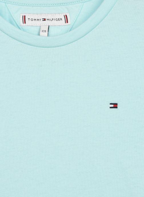 Vêtements Tommy Hilfiger Essential Knit Tee S/S Bleu vue face