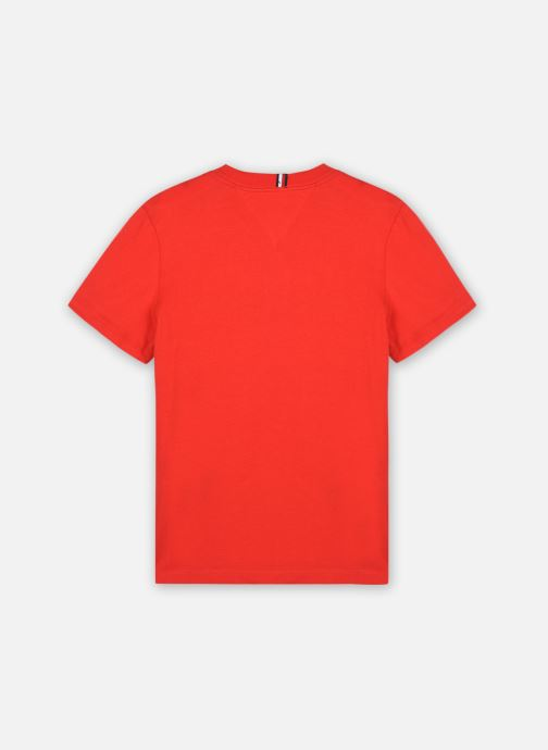 Vêtements Tommy Hilfiger Th Nyc Graphic Tee S/S Rouge vue portées chaussures