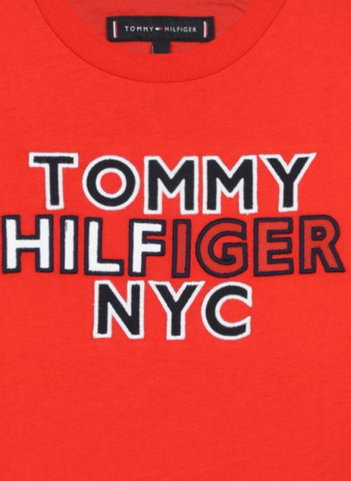 Vêtements Tommy Hilfiger Th Nyc Graphic Tee S/S Rouge vue face