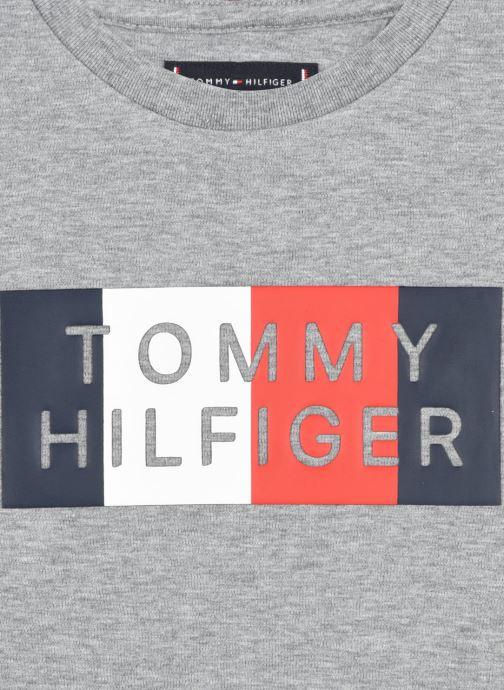 Vêtements Tommy Hilfiger Global Stripe Graphic Tee L/S Gris vue face