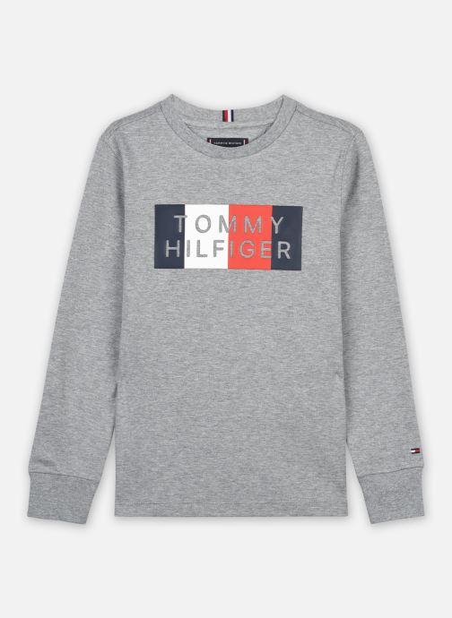 Vêtements Tommy Hilfiger Global Stripe Graphic Tee L/S Gris vue détail/paire
