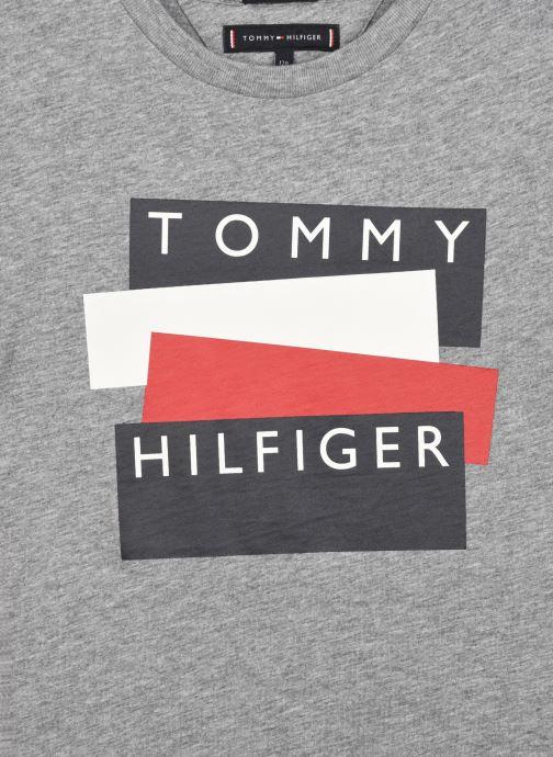 Vêtements Tommy Hilfiger Tommy Hilfiger Sticker Tee S/S Gris vue face