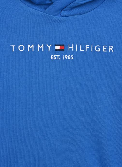 Vêtements Tommy Hilfiger Essential Hooded Sweatshirt Bleu vue face