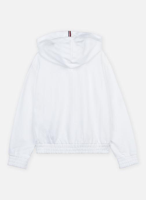 Vêtements Tommy Hilfiger Essential Hooded Sweatshirt Blanc vue portées chaussures