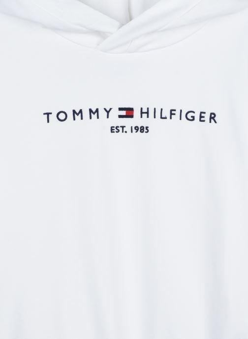 Vêtements Tommy Hilfiger Essential Hooded Sweatshirt Blanc vue face