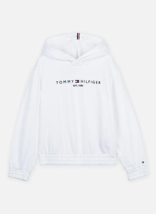 Vêtements Tommy Hilfiger Essential Hooded Sweatshirt Blanc vue détail/paire