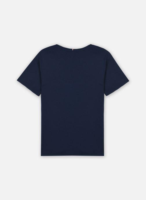 Vêtements Tommy Hilfiger Flag Tape Tee S/S Bleu vue portées chaussures
