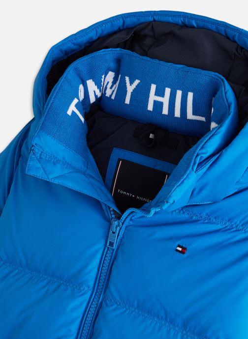 Vêtements Tommy Hilfiger Essential Down Jacket Bleu vue portées chaussures