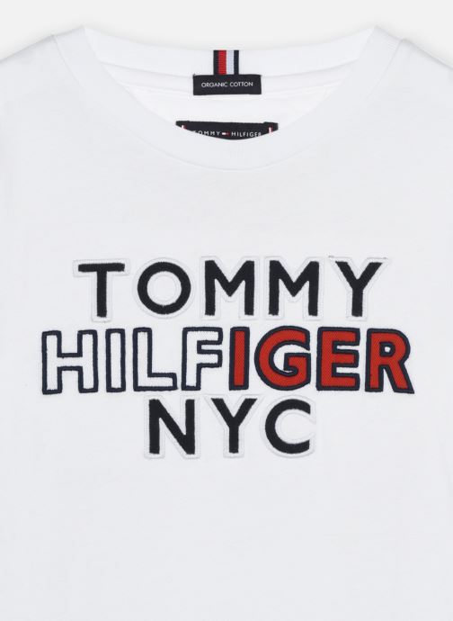 Vêtements Tommy Hilfiger Th Nyc Tee Tee L/S Blanc vue face