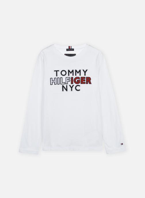 Vêtements Tommy Hilfiger Th Nyc Tee Tee L/S Blanc vue détail/paire