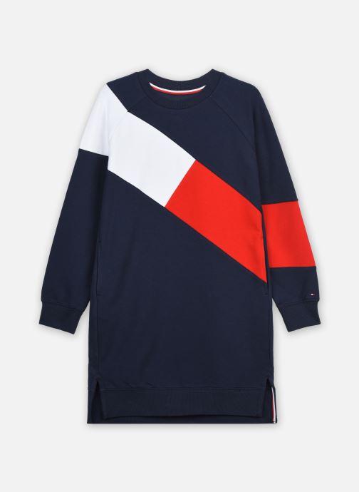 Vêtements Tommy Hilfiger Flag Blocking Knit Dress L/S Bleu vue détail/paire