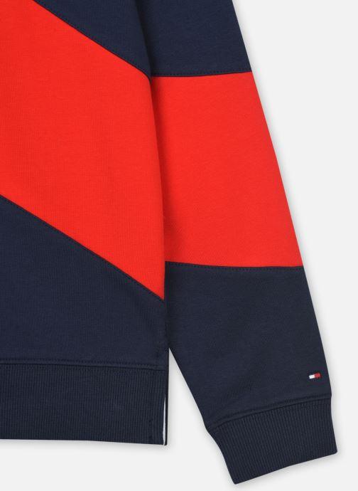 Vêtements Tommy Hilfiger Flag Blocking Hoodie Bleu vue face