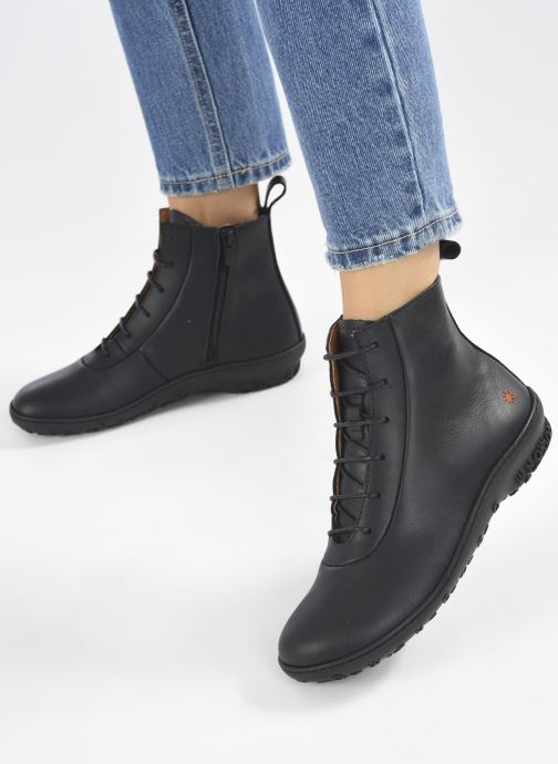 Bottines et boots Art ANTIBES 1424 Noir vue bas / vue portée sac