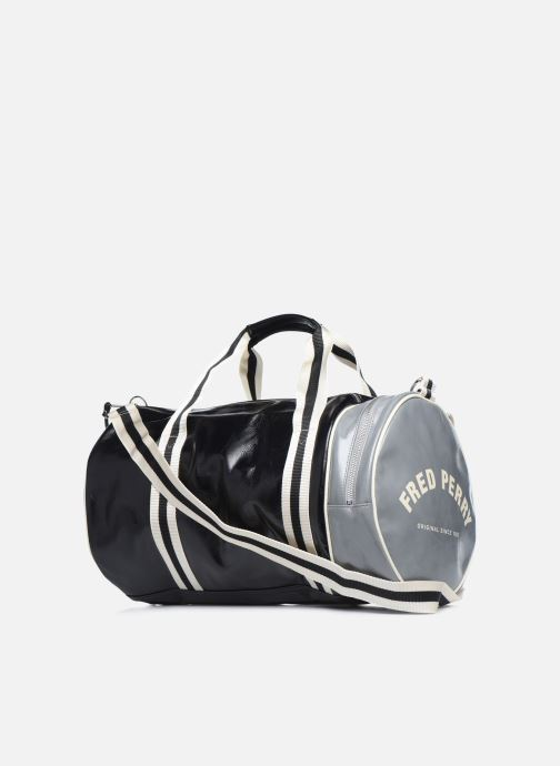 Sacs de sport Fred Perry Color Block Classic Barrel Bag Noir vue droite