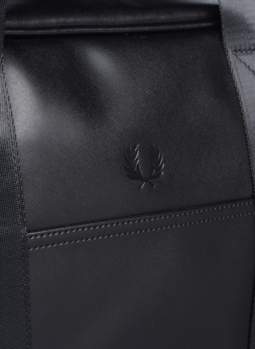 Bagages Fred Perry Embossed Pu Holdall Noir vue gauche
