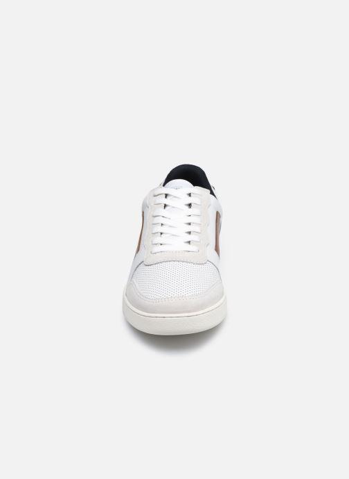 Baskets Faguo HAZEL BASKETS LEATHER SUEDE Blanc vue portées chaussures