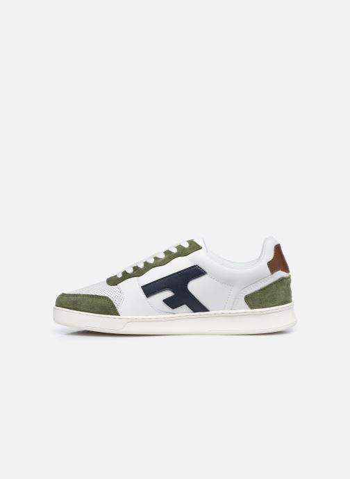 Sneaker Faguo HAZEL BASKETS LEATHER SUEDE weiß ansicht von vorne