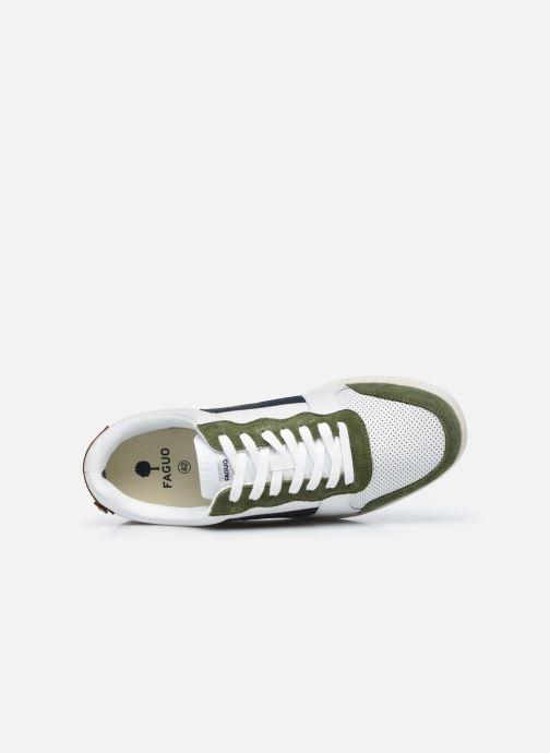 Sneaker Faguo HAZEL BASKETS LEATHER SUEDE weiß ansicht von links