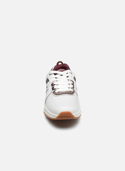 Deportivas Faguo WILLOW BASKETS SYN WOVEN LEATH Blanco vista del modelo