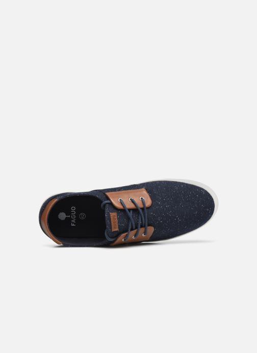 Sneaker Faguo CYPRESSME BASKETS SYN WOVEN blau ansicht von links