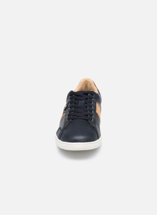 Baskets Faguo TENNIS HOSTA LEATHER SUEDE Bleu vue portées chaussures