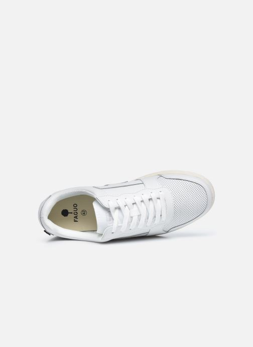 Sneaker Faguo HAZEL BASKETS LEATHER M weiß ansicht von links