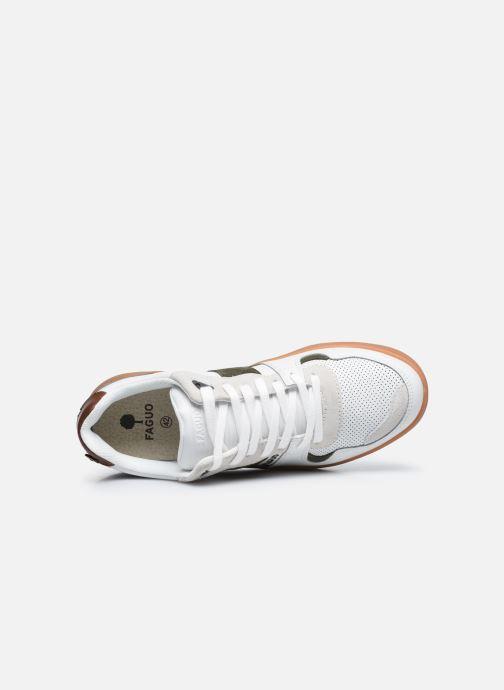 Sneaker Faguo CEIBA BASKETS LEATHER SUEDE weiß ansicht von links