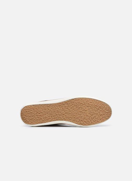 Baskets Faguo BASKET WATTLE LEATHER Marron vue haut